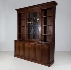 19thC English Large Mahogany Astral Glazed Bookcase - 2057130