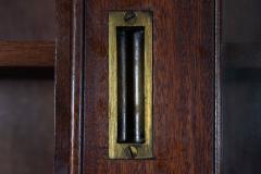 19thC English Large Mahogany Astral Glazed Bookcase - 2057132