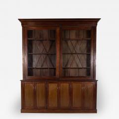 19thC English Large Mahogany Astral Glazed Bookcase - 2059795