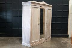 19thC English Painted Pine Compactum Wardrobe - 2070459