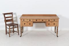19thC English Pine Writing Table Desk - 2120706
