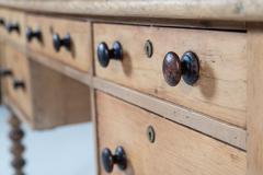 19thC English Pine Writing Table Desk - 2120711