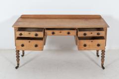 19thC English Pine Writing Table Desk - 2120713