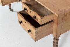 19thC English Pine Writing Table Desk - 2120718