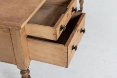 19thC English Pine Writing Table Desk - 2120720