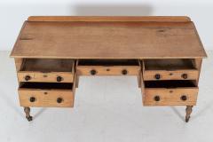 19thC English Pine Writing Table Desk - 2120722