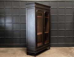 19thC French Ebonised Oak Glazed Vitrine Armoire - 2070422
