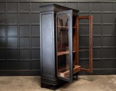 19thC French Ebonised Oak Glazed Vitrine Armoire - 2070425