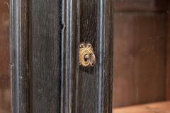 19thC French Ebonised Oak Glazed Vitrine Armoire - 2070435