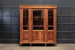 19thC French Mahogany Glazed Vitrine Bookcase Armoire - 2070374