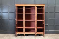 19thC French Mahogany Glazed Vitrine Bookcase Armoire - 2070379