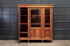 19thC French Mahogany Glazed Vitrine Bookcase Armoire - 2070380