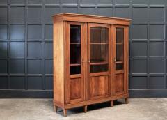 19thC French Mahogany Glazed Vitrine Bookcase Armoire - 2070381
