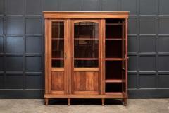 19thC French Mahogany Glazed Vitrine Bookcase Armoire - 2070382
