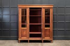 19thC French Mahogany Glazed Vitrine Bookcase Armoire - 2070383