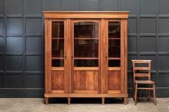 19thC French Mahogany Glazed Vitrine Bookcase Armoire - 2070384