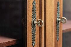 19thC French Mahogany Glazed Vitrine Bookcase Armoire - 2070386