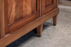 19thC French Mahogany Glazed Vitrine Bookcase Armoire - 2070392