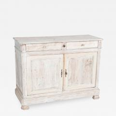 19thC French Painted Fruitwood Buffet - 2049255