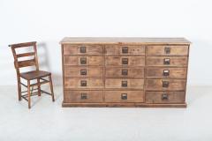 19thC Large Bank of English Workshop Drawers - 2136325