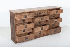 19thC Large Bank of English Workshop Drawers - 2136428