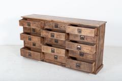 19thC Large Bank of English Workshop Drawers - 2136429