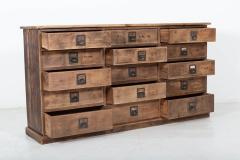 19thC Large Bank of English Workshop Drawers - 2136430