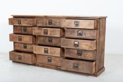 19thC Large Bank of English Workshop Drawers - 2136431
