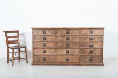 19thC Large Bank of English Workshop Drawers - 2136437