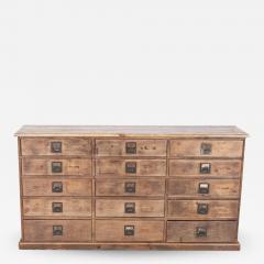 19thC Large Bank of English Workshop Drawers - 2138850