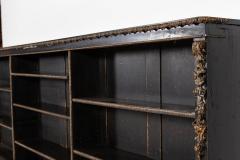 19thC Large English Ebonised Gilt Bronze Open Bookcase - 2047798