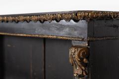 19thC Large English Ebonised Gilt Bronze Open Bookcase - 2047799