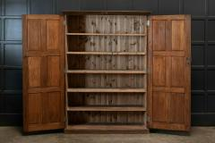 19thC Oak Panelled Cupboard - 1978651