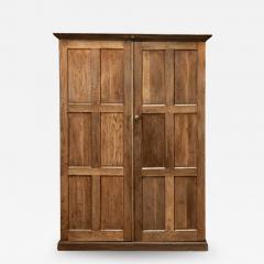 19thC Oak Panelled Cupboard - 1981874