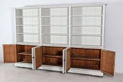 19thC Pair Monumental English Estate Made Painted Bookcases - 2136331
