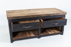 19thC Pair of English Ebonised Pine Counters Kitchen Islands - 2047862