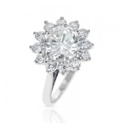 2 59 CT M VVS2 ROUND DIAMOND RING ACCENTED WITH DIAMONDS PLATINUM - 2086676