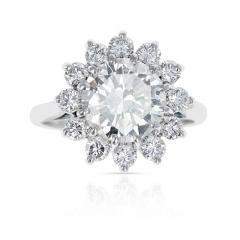 2 59 CT M VVS2 ROUND DIAMOND RING ACCENTED WITH DIAMONDS PLATINUM - 2086677