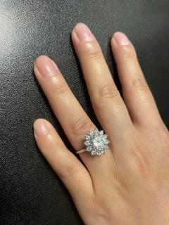 2 59 CT M VVS2 ROUND DIAMOND RING ACCENTED WITH DIAMONDS PLATINUM - 2086679