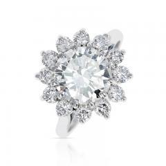 2 59 CT M VVS2 ROUND DIAMOND RING ACCENTED WITH DIAMONDS PLATINUM - 2086680