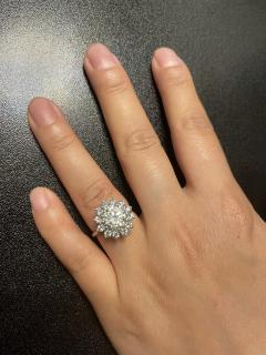 2 59 CT M VVS2 ROUND DIAMOND RING ACCENTED WITH DIAMONDS PLATINUM - 2086684