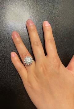 2 59 CT M VVS2 ROUND DIAMOND RING ACCENTED WITH DIAMONDS PLATINUM - 2086685