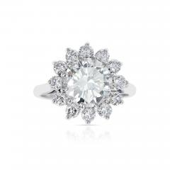 2 59 CT M VVS2 ROUND DIAMOND RING ACCENTED WITH DIAMONDS PLATINUM - 2086882
