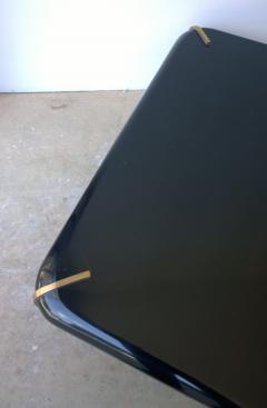 2 Mid Century Modern French Lacquered Black Bronze Legs Cocktail Coffee Tables - 1008795