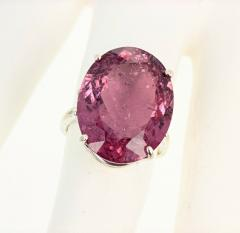 20 04 Carat PinkyPurple Tourmaline Ring - 1866582
