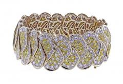 20 Carat Yellow and White Pav Diamond Bracelet - 1008902