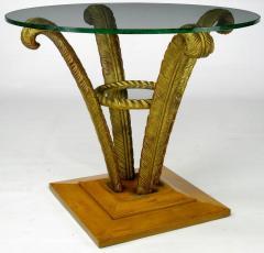 Pair Grosfeld House Plume End Tables c 1940s - 14026