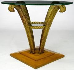 Pair Grosfeld House Plume End Tables c 1940s - 14028