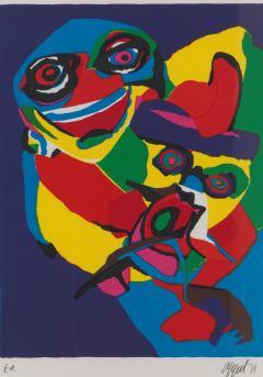 20th C Appel Karel 1921 2006 Masks Artist Proof Screen Print Framed Signed - 1914336