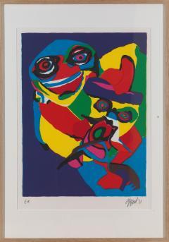 20th C Appel Karel 1921 2006 Masks Artist Proof Screen Print Framed Signed - 1914339